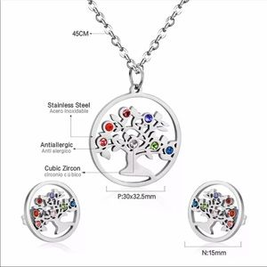 FAMILY TREE ♡ Stainless Steel Necklace GIFT SET